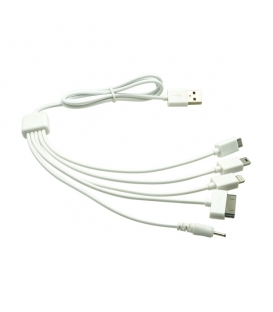 5 in 1 USB Charger Cable for iPhone iPad iPod Samsung (1M)