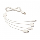 4 in 1 USB Charger Cable for iPhone iPad iPod Samsung (1M)