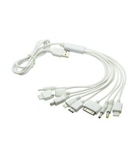 10 in 1 Universal USB Multi Charger Cable for iPhone iPad iPod Samsung (1M)