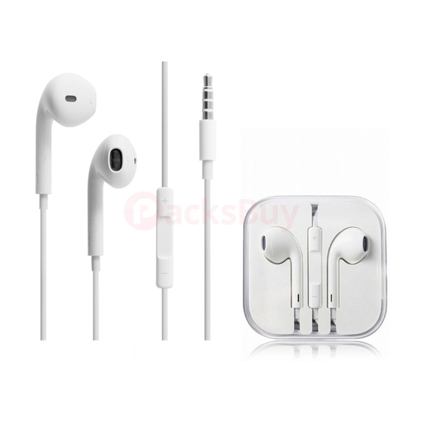 Earphone Earbud Headset With Volume Control Mic For Iphone 6s Plus 5s