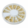 5 Sizes DIY Gold Rhinestone Nail Art Decoration 3D Acrylic Manicure Glitter