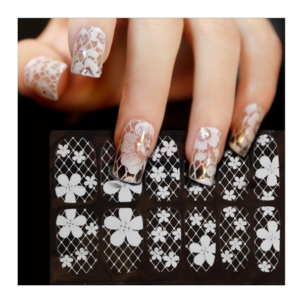 Nail Art Sticker Water Transfer Stickers Flower Decals 3d Decoration