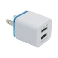 2.1A / 1A Universal US Plug 2 Ports Dual USB AC Wall Charger for iPhone Samsung