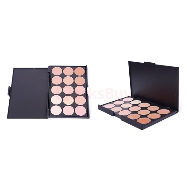 15 Colors Concealer Palette Kit with Brush Face Makeup Contour Cream - Palette 2