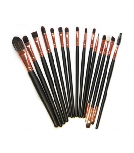 15 pcs superior Professional Soft Cosmetic Makeup Brush Set