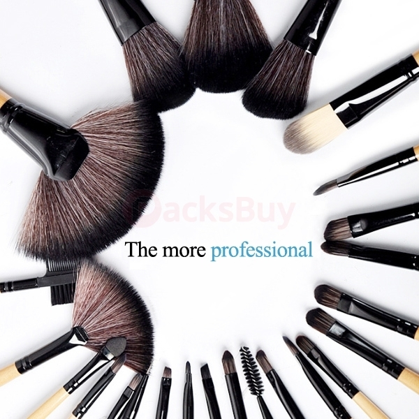 24 pcs superior Professional Soft Cosmetic Makeup Brush Set + Pouch Bag Case