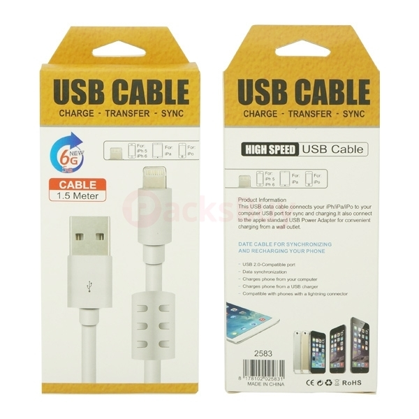 Apple Lightning to USB Cable With Magnet Ring for iPhone SE 6s plus 6 plus 5s 5 5c