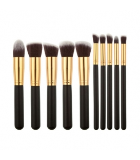 10 pcs superior Professional Soft Cosmetic Makeup Brush Set