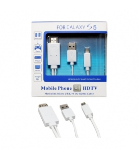 MHL Micro USB to HDMI 1080P HDTV Cable Adapter for Samsung Galaxy S5 Note 3