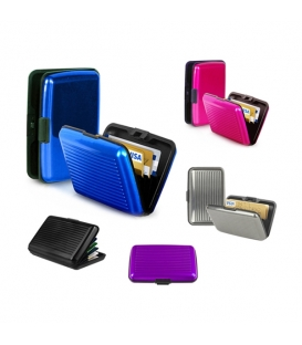 Color Pocket Business ID Credit Card Wallet Holder Case Box Aluminum Metal