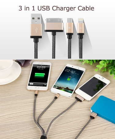 3 in 1 USB Charger Cable
